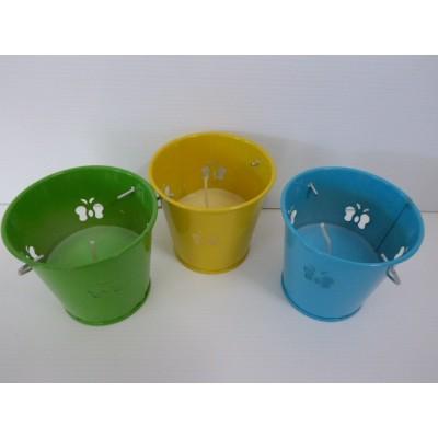 Cubito Con Vela Citronela Colores