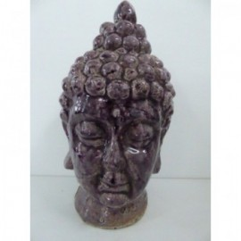Cabeza Buddha Purple 32 cm