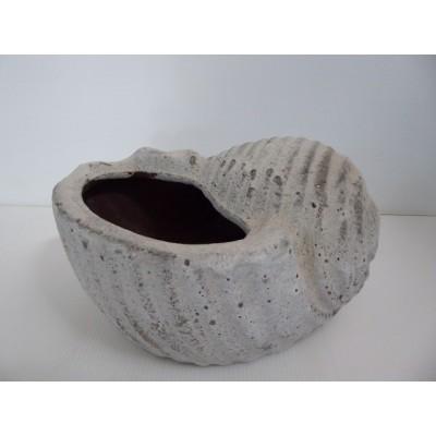 Maceta Caracol 1 24*18*14 cm Blanco