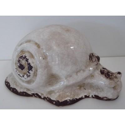 Caracol Ceramica Blanca 21 cm