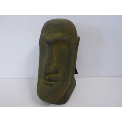 Moai Cabeza De Pascua Lava Verde 15 cm