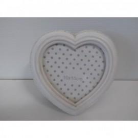 Portafotos Corazón 10*10 cm Blanco