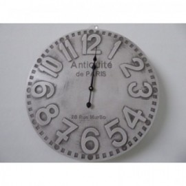 "Reloj Blanco Decapado ""Antiquite"" 51D cm"