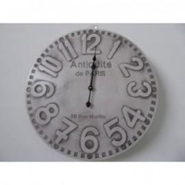 """Reloj Blanco Decapado """"Antiquite"""" 51D cm"""