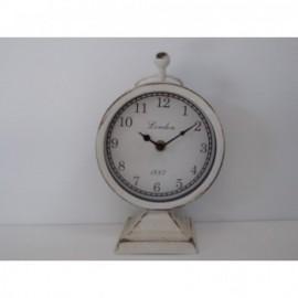 Reloj Sobremesa Forja Blanca 23 cm