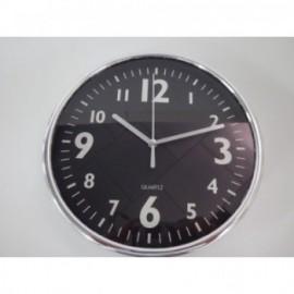Reloj De Pared Cromado 20 cm