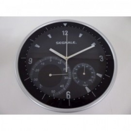 Reloj Termometro/Higrometro 25 cm