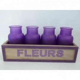 Fleurs Bottles 29*10*7 cm Lila