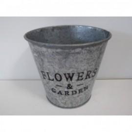 Cubo Zinc Flowers & Garden