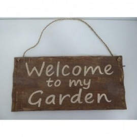 Cartel Welcome Garden H150*300 Madera