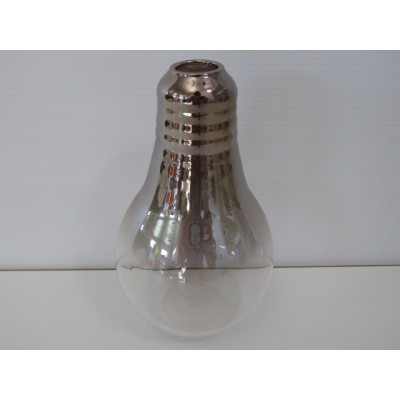 Soliflor Bombilla H130X80 Cristal Plateado