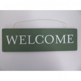 Cartel Welcome H90*300Mm Madera Verde