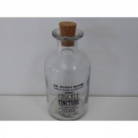 Botella Chuckle H175X70 Redonda Cristal Transparente