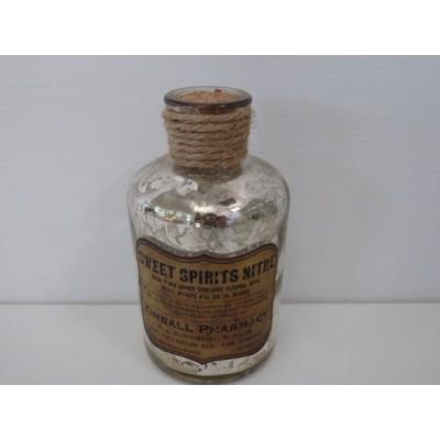 Botella Mercury Con Corcho H135*65 Cristal Plateado