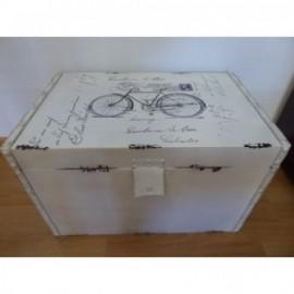 Baul Polipiel Blanca Bicicleta