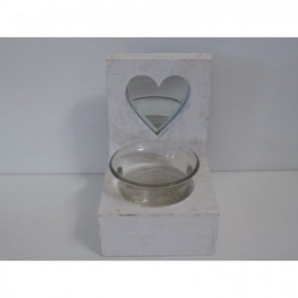 Candle Heart 8*4 cm Blanco