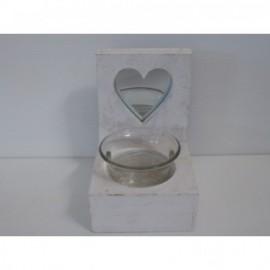 Candle Heart 8*4 cm Blanco