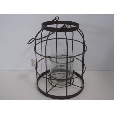 Lamp Metal 13*26 cm Gris