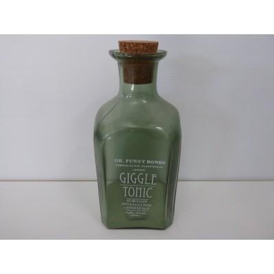 Botella Giggle H180*80 Cristal Verde