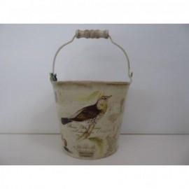 Cubo Chapa Mariposa-Pajaro 15*12*22 cm