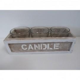 Caja Candle 23*10*6 cm 3 Vasos