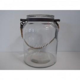 Glass Candle 12*21 cm Transparente