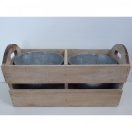 Caja+Pots Metal Gris