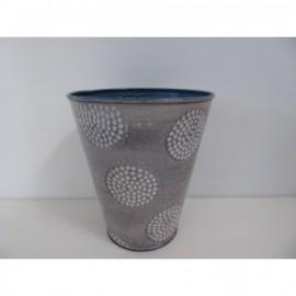 Vaso Alto Riad Gris 15 cm