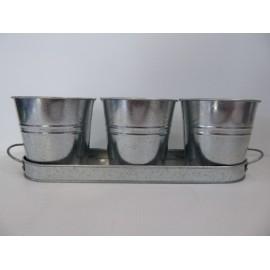 Bandeja+Cubos Zinc 36.3*11.5*2.5 cm