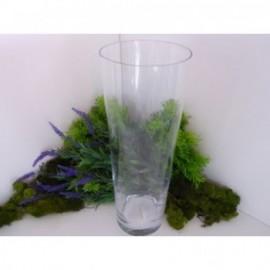 Jarrón Cilindro Conico Cristal